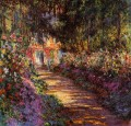The Flowered Garden Claude Monet
